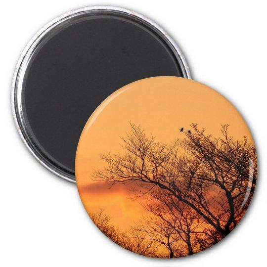 Aufpassen des Sonnenaufgangs Runder Magnet 5,1 Cm