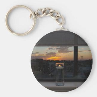 Aufpassen des Sonnenuntergangs Schlüsselanhänger