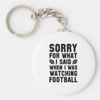 Aufpassender Fußball Schlüsselanhänger