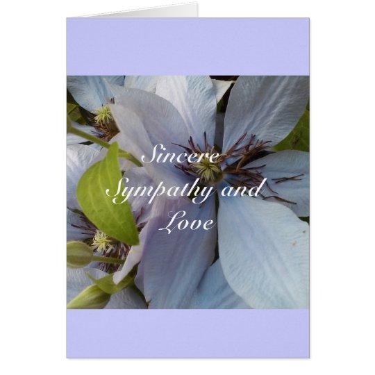 Aufrichtiges Beileid und Liebe Karte