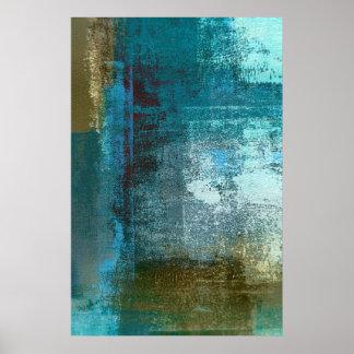 """Aufsicht-"" aquamariner abstrakter Poster"