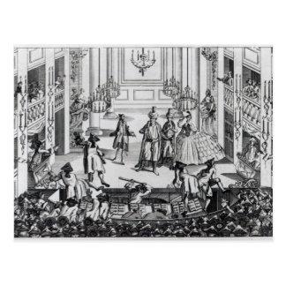 Aufstand am Covent Garten-Theater im Jahre 1763 Postkarten