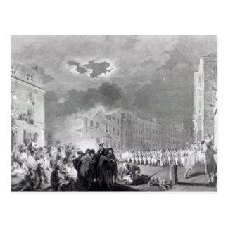 Aufstand in Broad Street, im Juni 1780 Postkarten