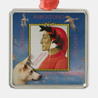 Aufstellung mit Dante Alighieri Silbernes Ornament