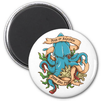 Aufstieg der Kraken Monster-Krake Runder Magnet 5,7 Cm