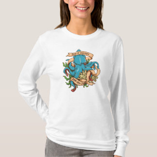 Aufstieg der Kraken Monster-Krake T-Shirt
