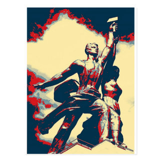 Aufstieg der roten Arbeitskraft II Postkarten