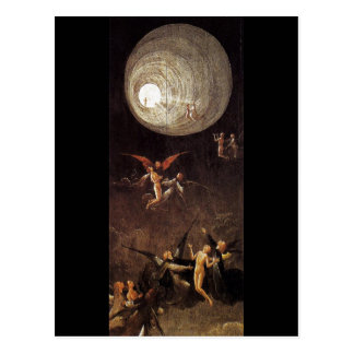 Aufstieg von gesegnet, durch Hieronymus Bosch Postkarte