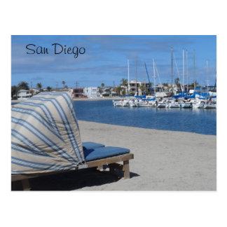 Auftrag-Bucht San Diego Postkarte