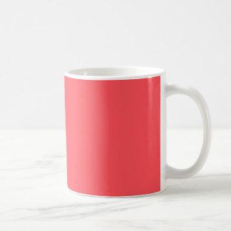 Aufwändig gestaltete korallenrote Farbe Kaffeetasse