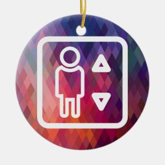 Aufzugs-Techniker-Bilddagramm Keramik Ornament