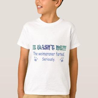 aug315fartWeimaraner.jpg T-Shirt