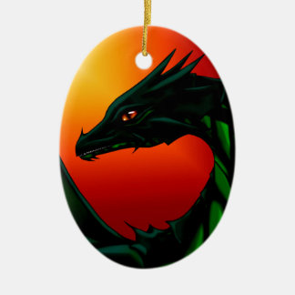Auge des Drachen Ovales Keramik Ornament