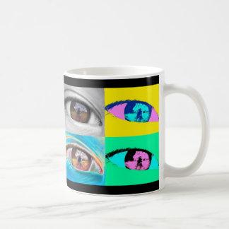 Auge in Fotos & pop' Stilkunst Tasse