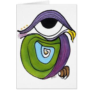 Auge, Papagei Notecard Karte