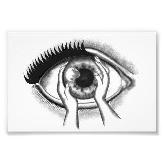 Auge Photographischer Druck