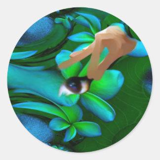 Auge wählte das Blumen-Produkt aus Runde Sticker