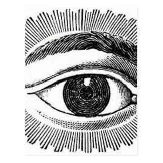Augen-Auge Postkarte