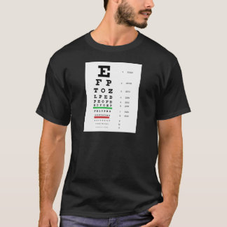 Augen-Diagramm Hermans Snellen, zum der visuellen T-Shirt