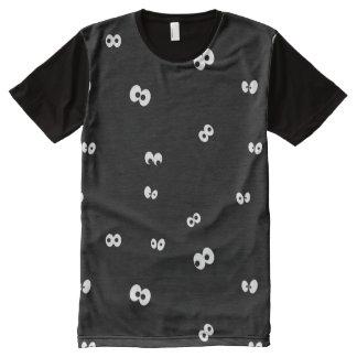 Augen in der Dunkelheit T-Shirt Mit Bedruckbarer Vorderseite