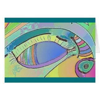 Augen-Kunst-Entwurfs-Gruß-Karte Karte