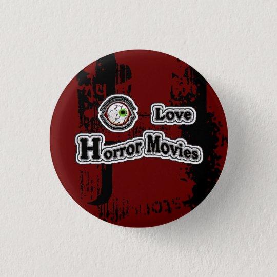 Augen-Liebe-Horror-Filme! Rot-Schwarz Runder Button 2,5 Cm