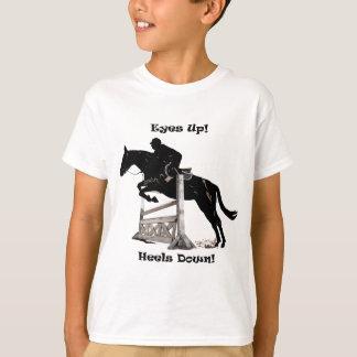 Augen oben! Heels unten! Pferd T-Shirt