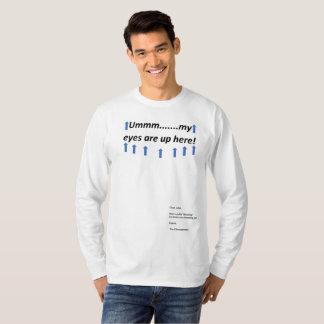 Augen sind herauf hier Kampf der Sex-Parodie T T-Shirt