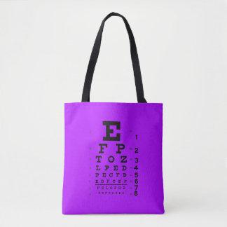 Augenheilkunde-Pop-Kunst-Retro Art-Augen-Diagramm Tasche