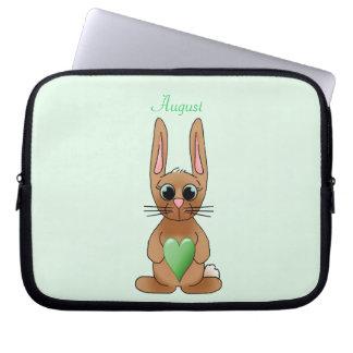 August-Kaninchen Laptop Computer Schutzhülle