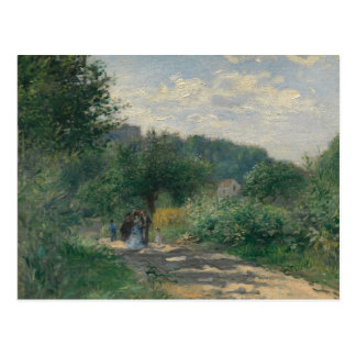 Auguste Renoir - eine Straße in Louveciennes Postkarte