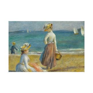 Auguste Renoir - Zahlen auf dem Strand Leinwanddruck