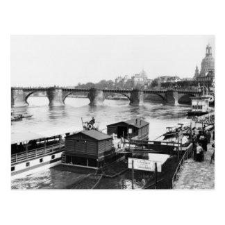 Augustus Brücke, Dresden, c.1910 Postkarte