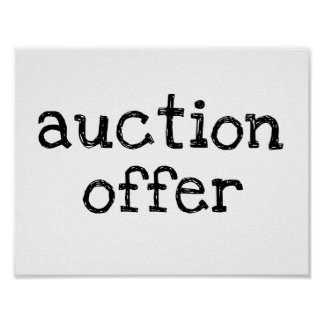 Auktions-Angebot Poster