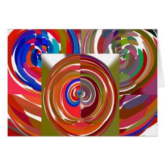 Aura fährt rad - färben Sie Meditations-Mandala 1 Karte