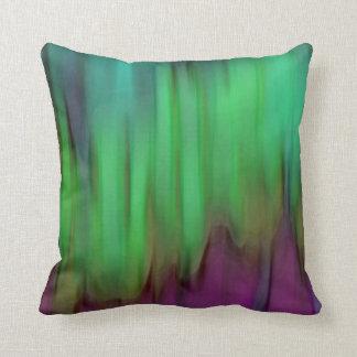 Aurora Borealis abstraktes grünes Throw-Kissen Zierkissen
