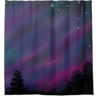 Aurora Borealis Duschvorhang