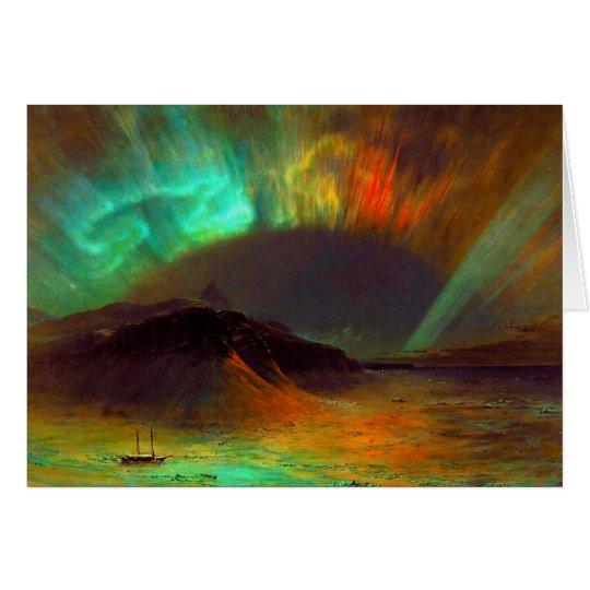 Aurora Borealis, Nordlichter Grußkarte