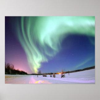 Aurora - schöne Nordlichter Poster