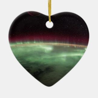 Auroraen auf Erde Keramik Ornament