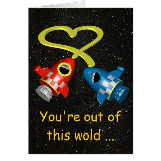 Aus dieser Wort-Liebe heraus kardieren Sie Grußkarte