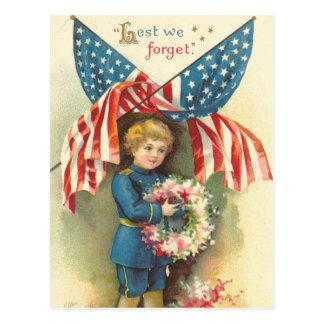 Aus Furcht, dass wir Volkstrauertag vergessen Postkarte