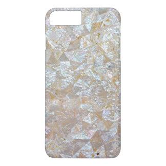 Aus Perlmutt rosa weißes Dreieck mit Ziegeln iPhone 8 Plus/7 Plus Hülle