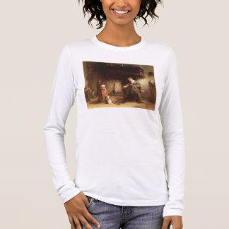 Ausbessern die Netze (Öl auf Platte) Langarm T-Shirt