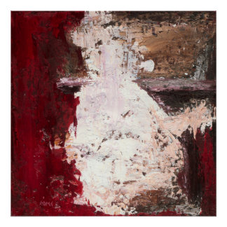 Ausbruch - Studie - rote abstrakte Kunst Poster