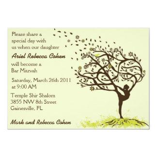 Ausdehnen meines Glied-Bar Mitzvah 12,7 X 17,8 Cm Einladungskarte