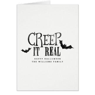 Ausdehnung es wirkliches Halloween Grußkarte