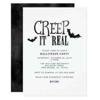 Ausdehnung es wirkliches Halloween-Party 12,7 X 17,8 Cm Einladungskarte