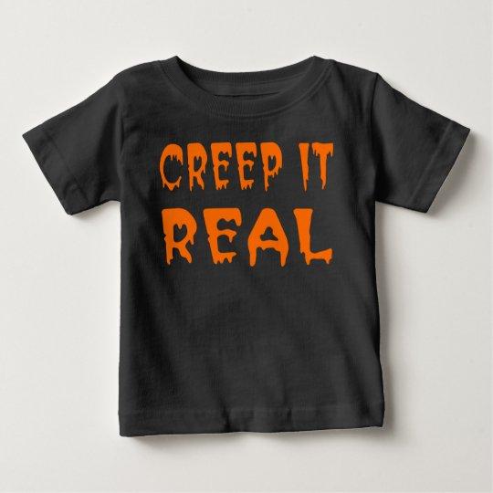 Ausdehnung es wirkliches Halloween-Shirt Baby T-shirt