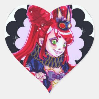 Ausdehnung, niedliches Monster Herz-Aufkleber